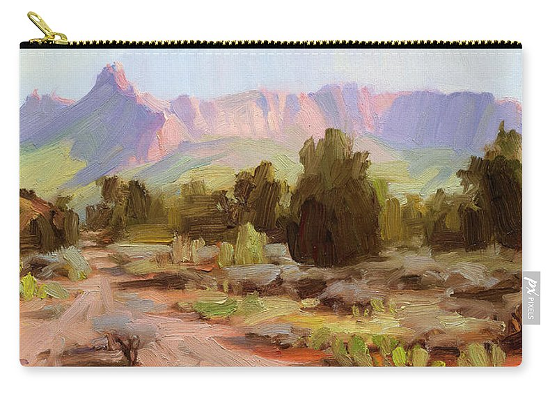 Zion Carry-all Pouch featuring the painting On The Chinle Trail by Steve Henderson