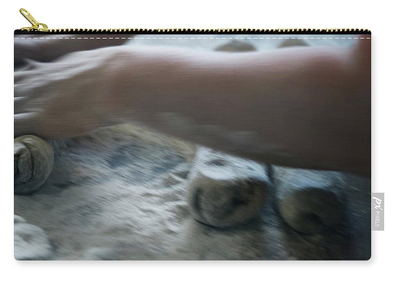 Working Carry-all Pouch featuring the photograph One Person Baking Bread, Sweden by Koller, Lena