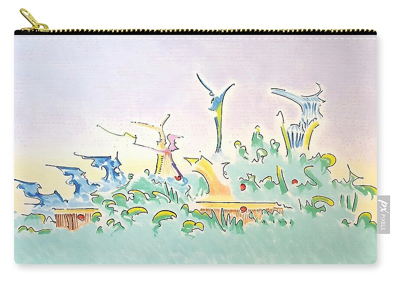Onward Carry-all Pouch featuring the painting Onward by Dave Martsolf