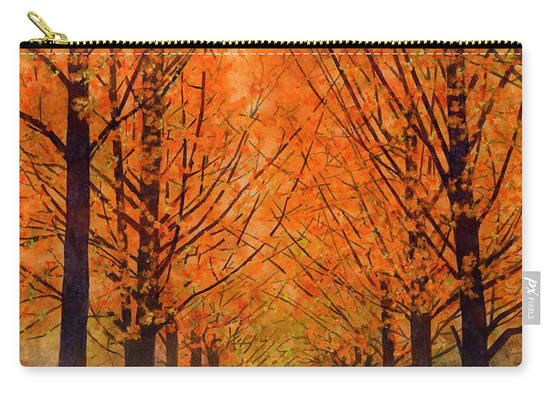 Orange Carry-all Pouch featuring the painting Orange Grove by Hailey E Herrera