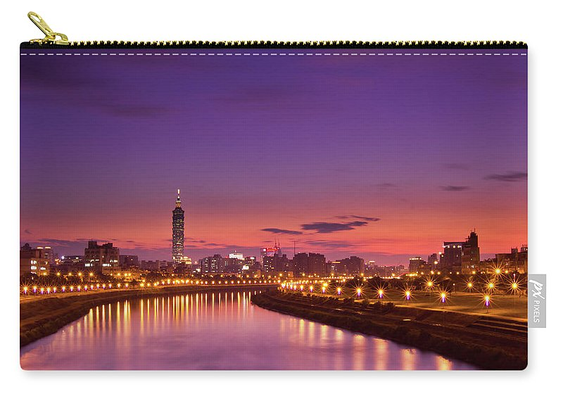 Orange Color Carry-all Pouch featuring the photograph Orange Sunset by © Copyright 2011 Sharleen Chao