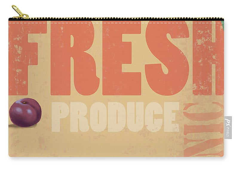 Part Of A Series Carry-all Pouch featuring the digital art Organic Fresh Produce Poster by Don Bishop