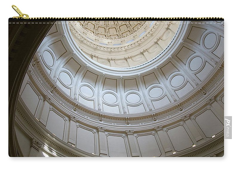 Democracy Carry-all Pouch featuring the photograph Ornate Round Dome Of The Capital by Wpcg