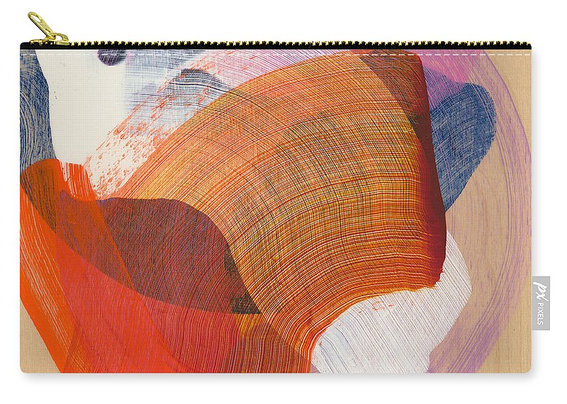 Abstract Carry-all Pouch featuring the painting Out Of The Blue 01 by Claire Desjardins