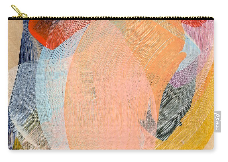 Abstract Carry-all Pouch featuring the painting Out Of The Blue 02 by Claire Desjardins