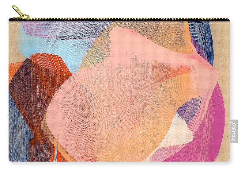 Abstract Carry-all Pouch featuring the painting Out Of The Blue 03 by Claire Desjardins