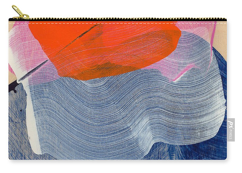 Abstract Carry-all Pouch featuring the painting Out Of The Blue 08 by Claire Desjardins