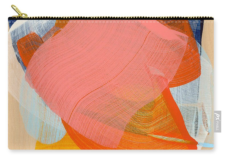 Abstract Carry-all Pouch featuring the painting Out Of The Blue 10 by Claire Desjardins