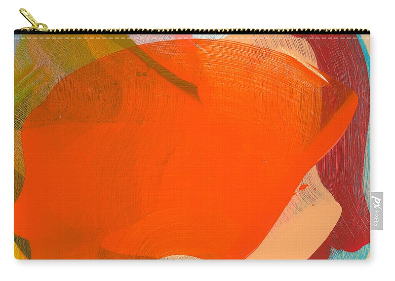 Abstract Carry-all Pouch featuring the painting Out Of The Blue 11 by Claire Desjardins