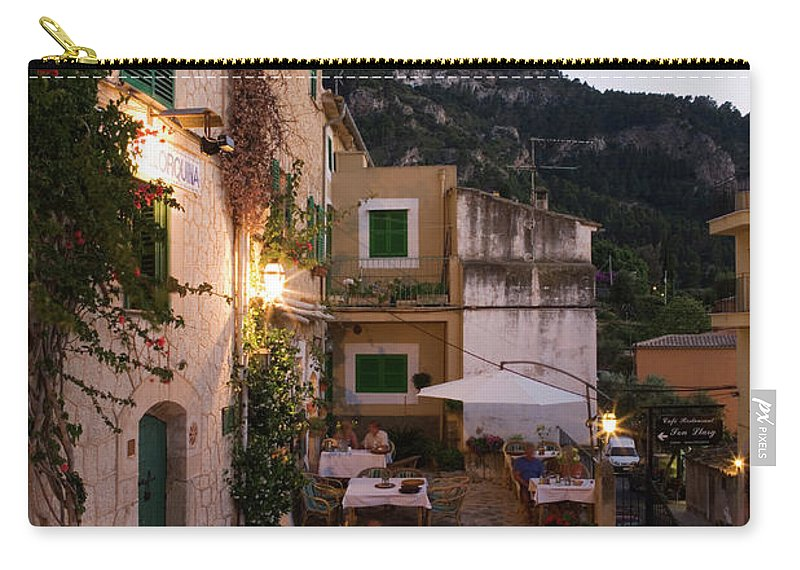 People Carry-all Pouch featuring the photograph Outdoor Seating At Son Llarg Restaurant by Holger Leue