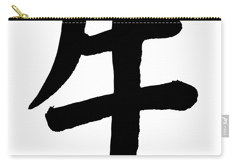 Chinese Culture Carry-all Pouch featuring the photograph Ox In Chinese, Astrology Sign by Blackred