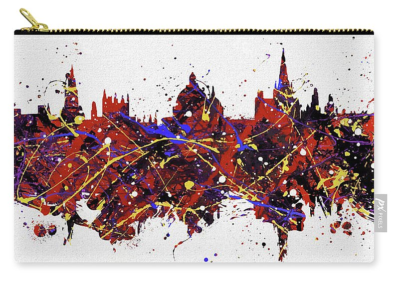Oxford Colorful Skyline Carry-all Pouch featuring the painting Oxford Colorful Skyline by Dan Sproul