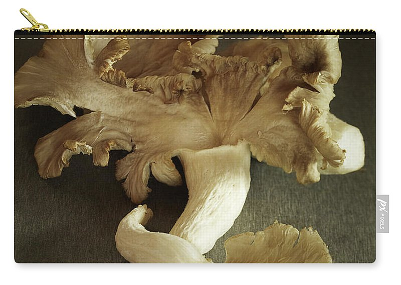 Edible Mushroom Carry-all Pouch featuring the photograph Oyster Mushrooms Still Life by Carin Krasner