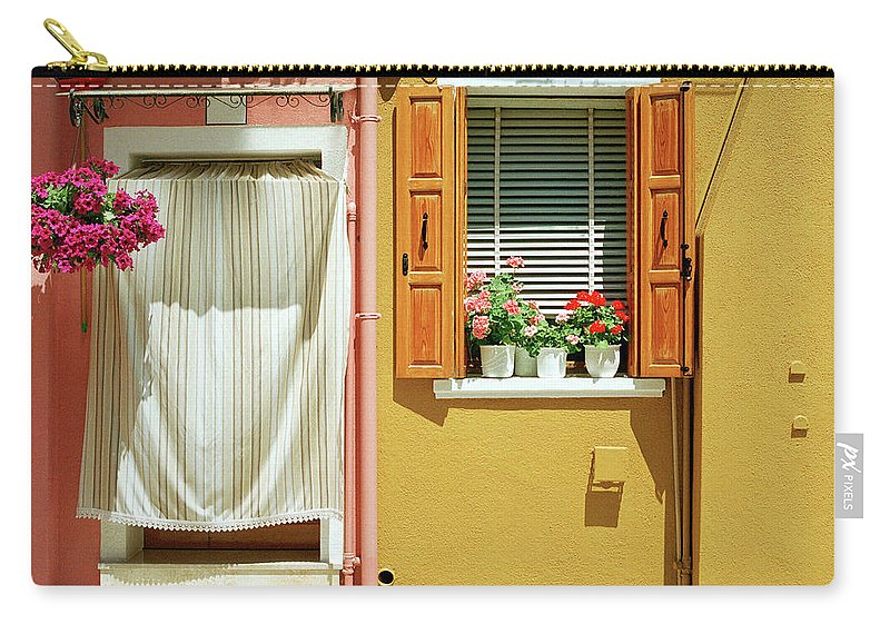Hanging Carry-all Pouch featuring the photograph Painted House In Burano by Terraxplorer
