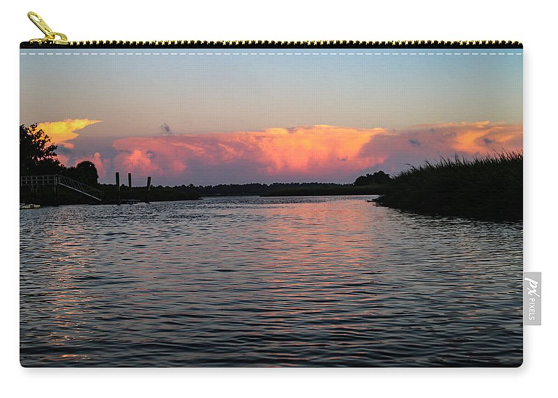 Sunset Carry-all Pouch featuring the photograph Painted Sunset by Victoria Williams