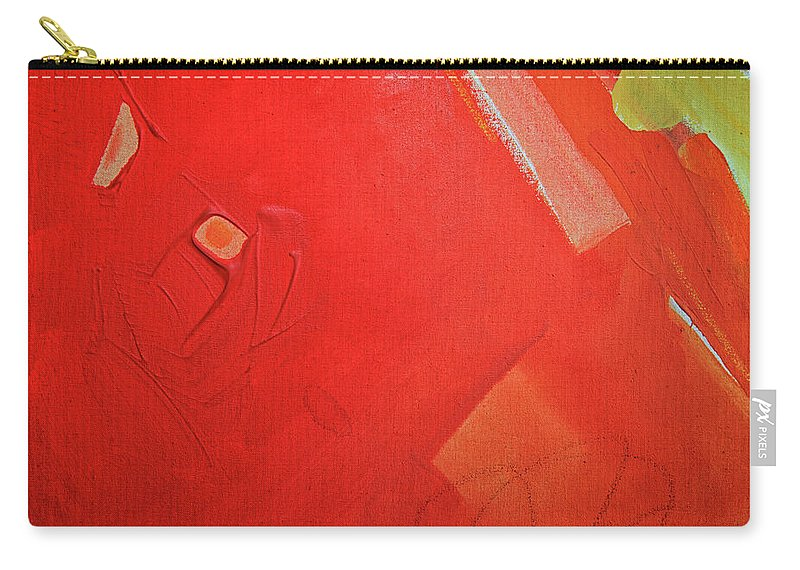 Gouache Carry-all Pouch featuring the digital art Painting On Canvas by Petekarici