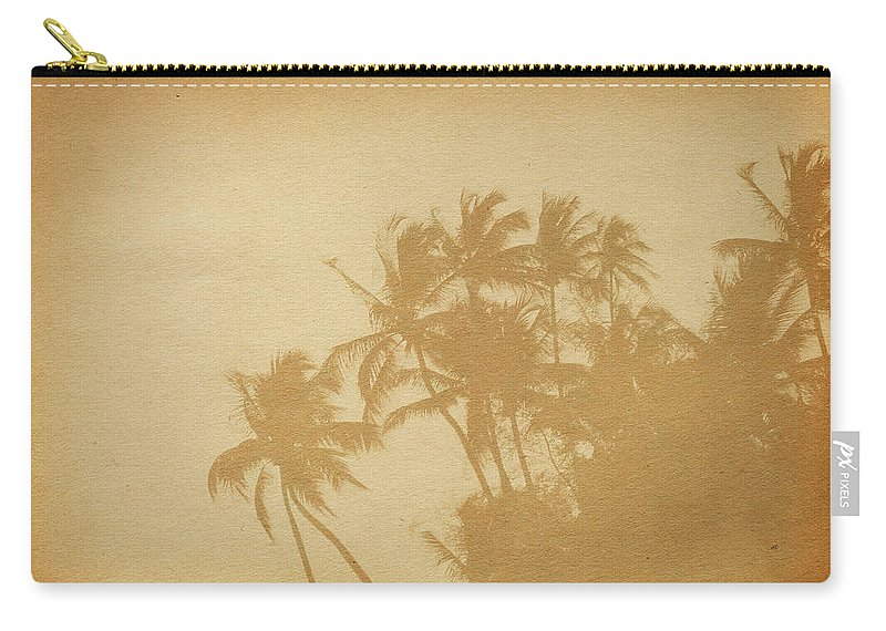 Aging Process Carry-all Pouch featuring the photograph Palm Paper by Nic taylor