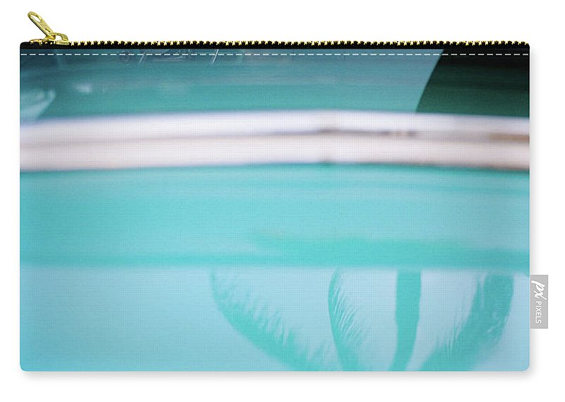 Outdoors Carry-all Pouch featuring the photograph Palm Tree Reflection On Car by Jörgen Persson - Www.rebusfilm.se