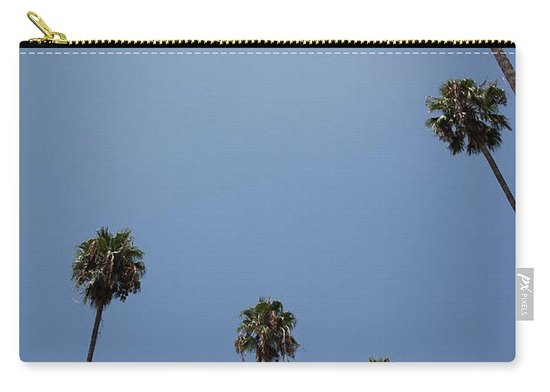 Tranquility Carry-all Pouch featuring the photograph Palm Trees by Tuan Tran