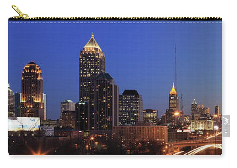 Atlanta Carry-all Pouch featuring the photograph Panorama Of Atlanta, Georgia by Jumper