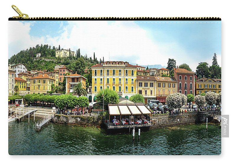 Tranquility Carry-all Pouch featuring the photograph Panorama Of Bellagio From Lake Como by Melinda Moore