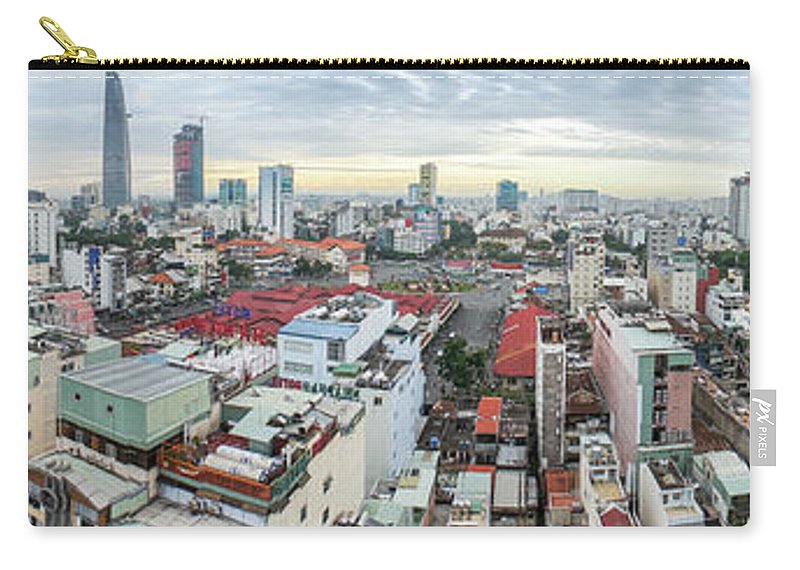 Ho Chi Minh City Carry-all Pouch featuring the photograph Panorama Of Ho Chi Minh City by By Thomas Gasienica