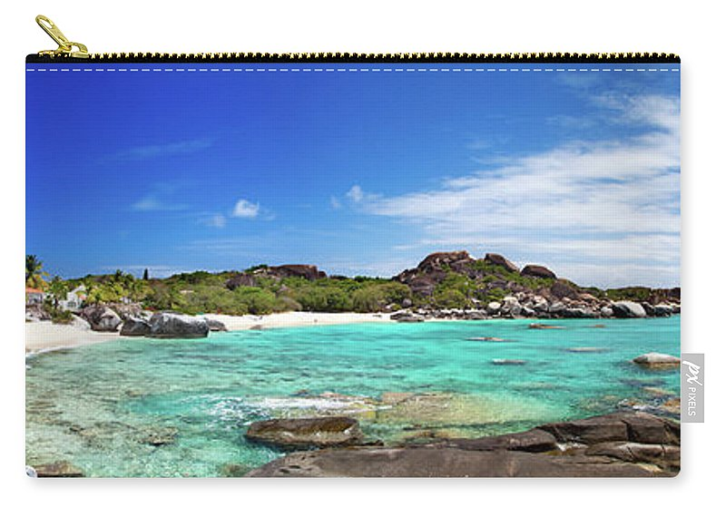 Scenics Carry-all Pouch featuring the photograph Panorama Of Spring Bay And The Baths by Cdwheatley