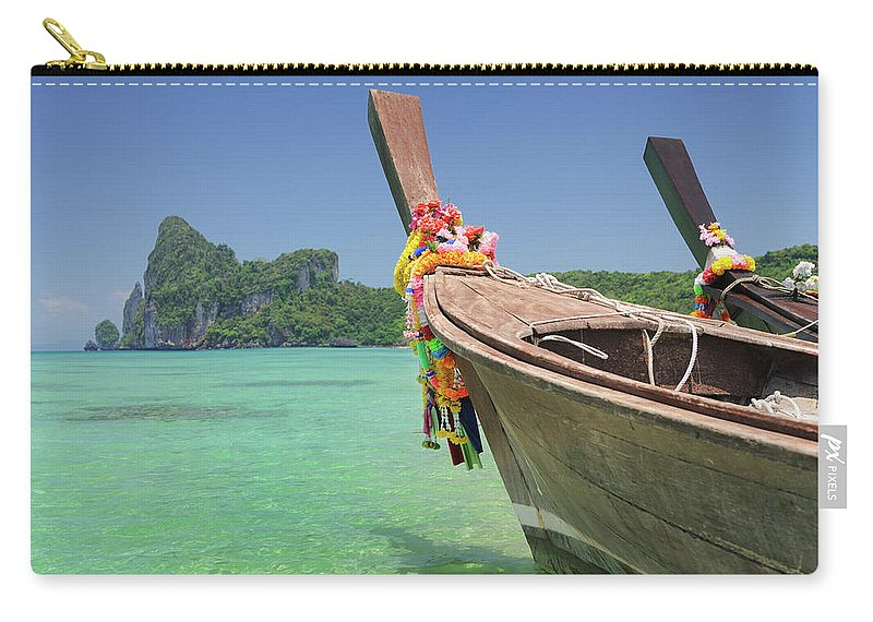 Tropical Rainforest Carry-all Pouch featuring the photograph Paradise Tropical Beach With Longtail by 4fr
