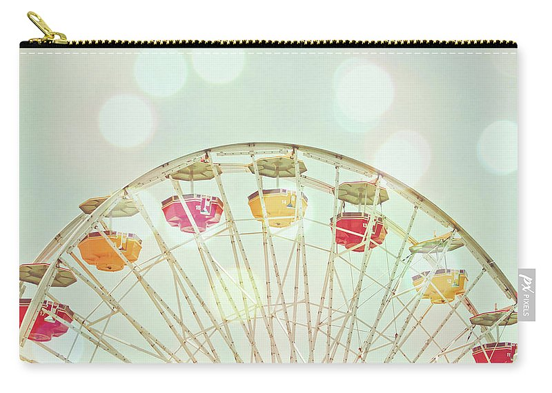 Hanging Carry-all Pouch featuring the photograph Pastel Ferris Wheel by Joyhey