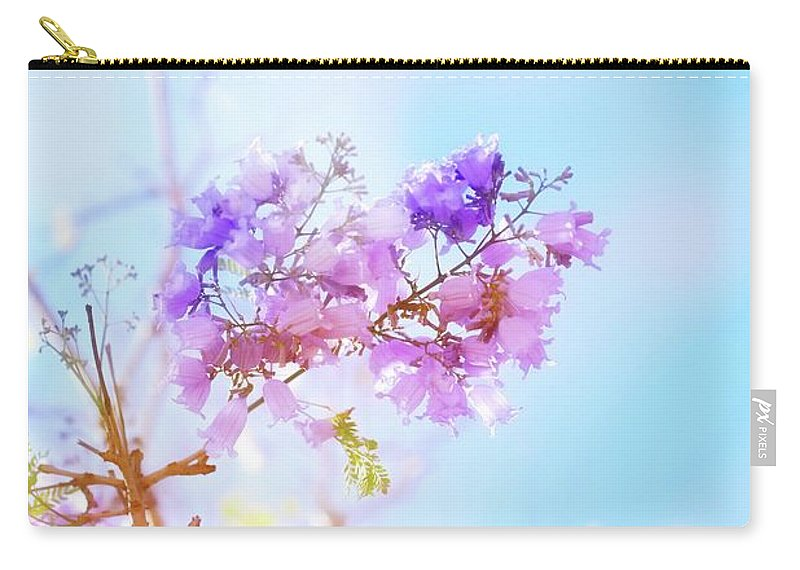 Flower Carry-all Pouch featuring the photograph Pastels In The Sky by Az Jackson
