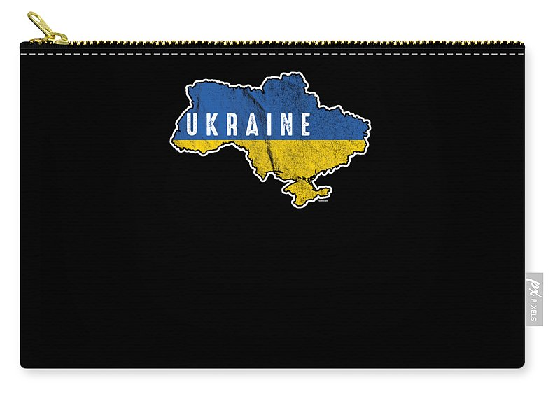 Flag Carry-all Pouch featuring the digital art Patriotic Ukraine Flag Ukrainian Nationalism by Tom Giant