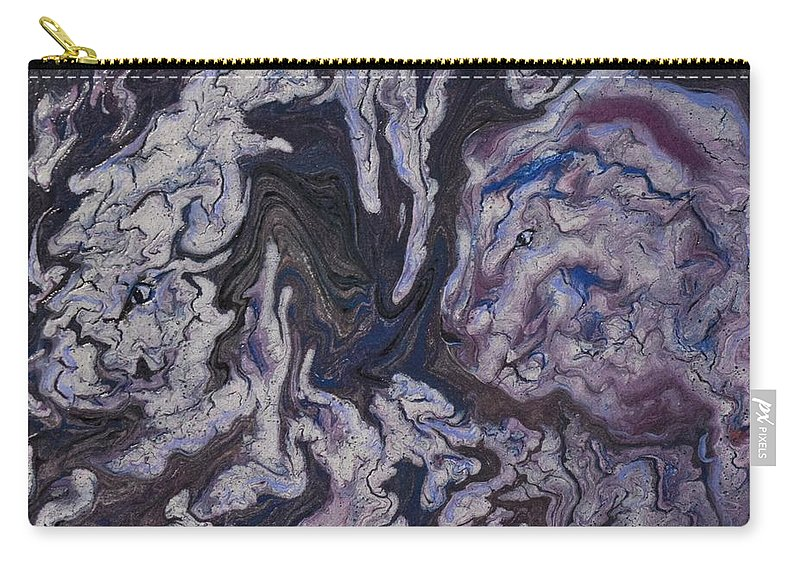 White Tiger Carry-all Pouch featuring the painting Peace, Love, Simplicity by Teresa Brown