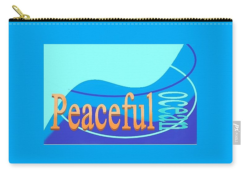 Carry-all Pouch featuring the digital art Peaceful Ocean by Andrew Johnson