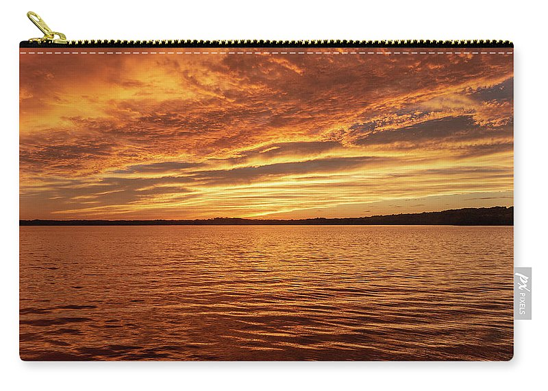 Percy Priest Lake Carry-all Pouch featuring the photograph Percy Priest Lake Sunset by D K Wall