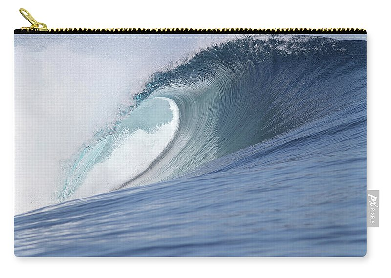 Spray Carry-all Pouch featuring the photograph Perfect Wave by Reniw-imagery