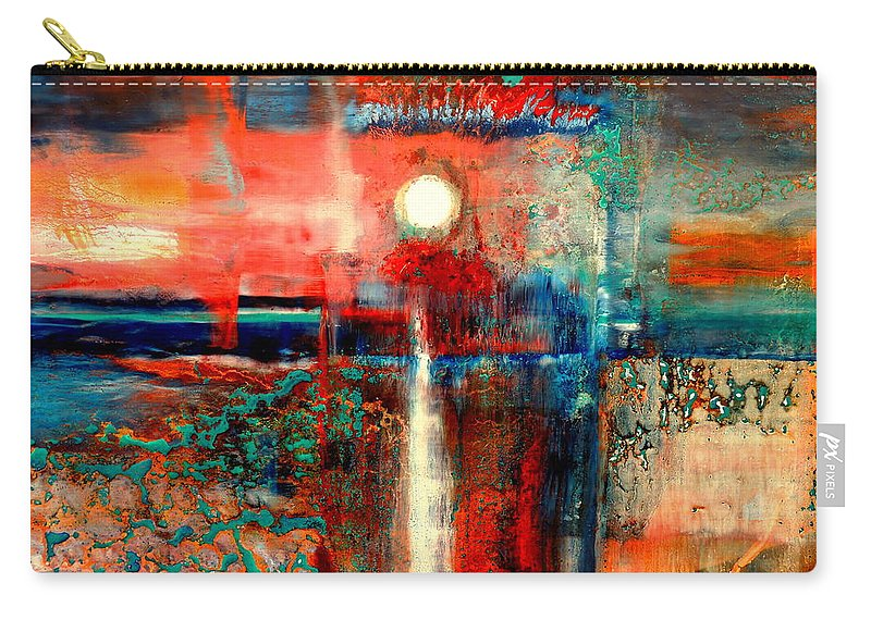 Perspex Carry-all Pouch featuring the painting Perspex by John Belcher