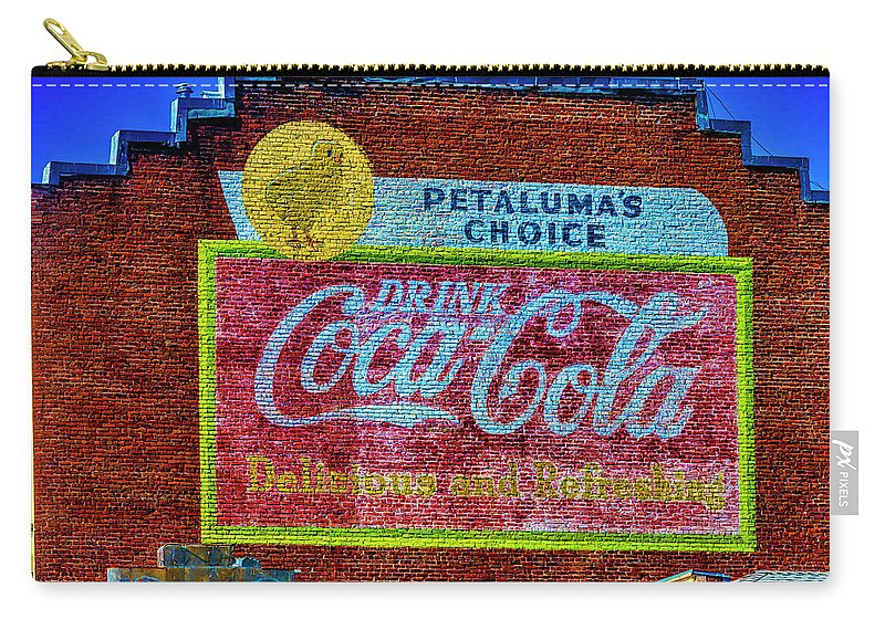 Petaluma's Carry-all Pouch featuring the photograph Petalima's Drink Coca-cola by Garry Gay