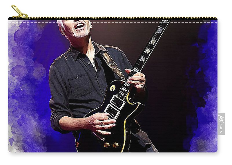 Peter Frampton Carry-all Pouch featuring the photograph Peter Frampton by Karl Knox Images
