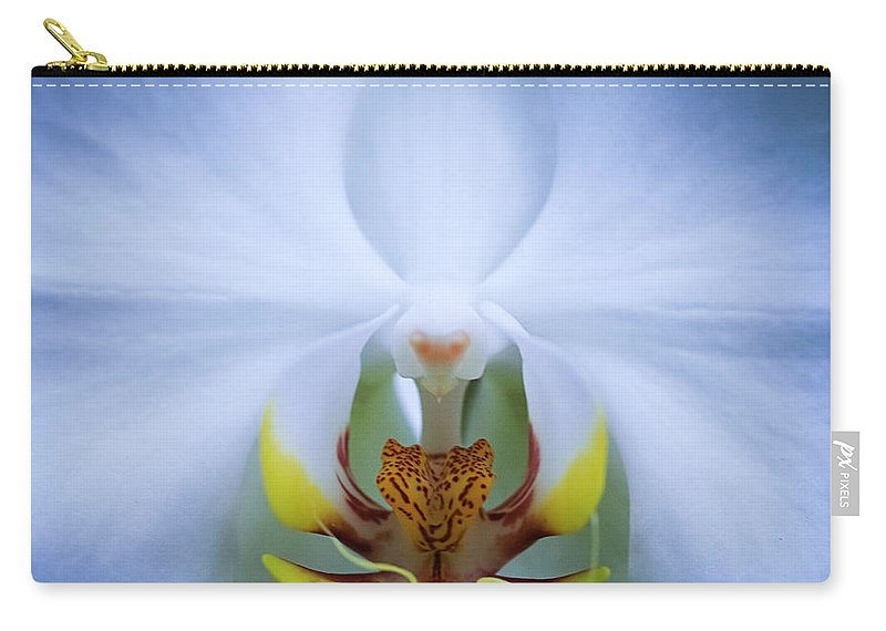 Outdoors Carry-all Pouch featuring the photograph Phalaenopsis Orchid by By Ken Ilio
