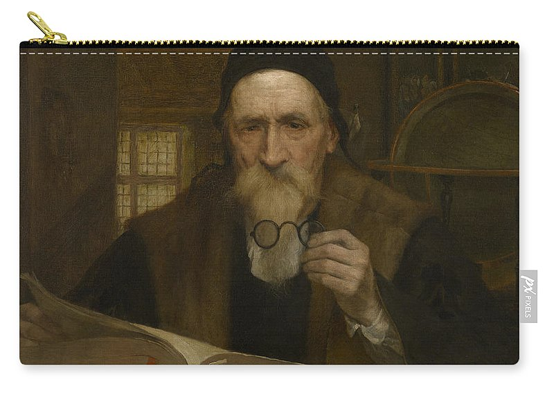 Edmond Van Hove Carry-all Pouch featuring the painting Philosopher by Edmond Van Hove