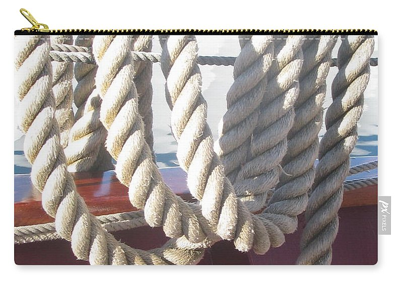Ropes Carry-all Pouch featuring the photograph Photo #94 by Suzanne Buckland