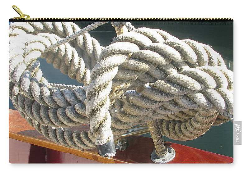 Ropes Carry-all Pouch featuring the photograph Photo #95 by Suzanne Buckland