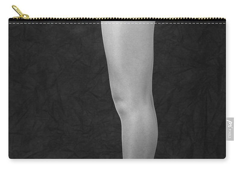 Cool Attitude Carry-all Pouch featuring the photograph Photography Of Standing Womans Legs by Daj