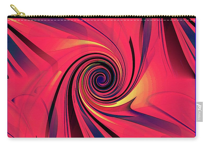 Carry-all Pouch featuring the digital art Pinch And Twist  5 by Iris Gelbart