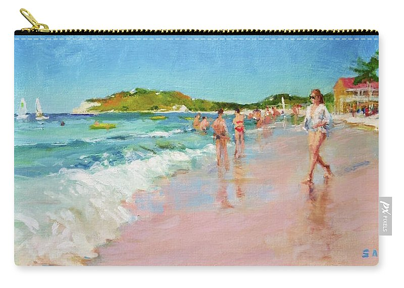 Sun Carry-all Pouch featuring the painting Pineapple Beach, Antigua by Peter Salwen