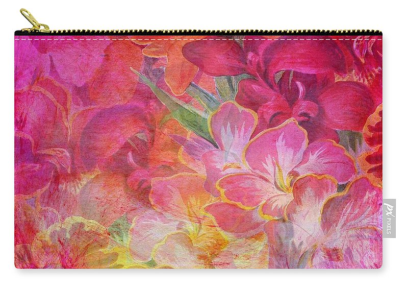 Hibiscus Carry-all Pouch featuring the painting Pink Hibiscus by ArtMarketJapan