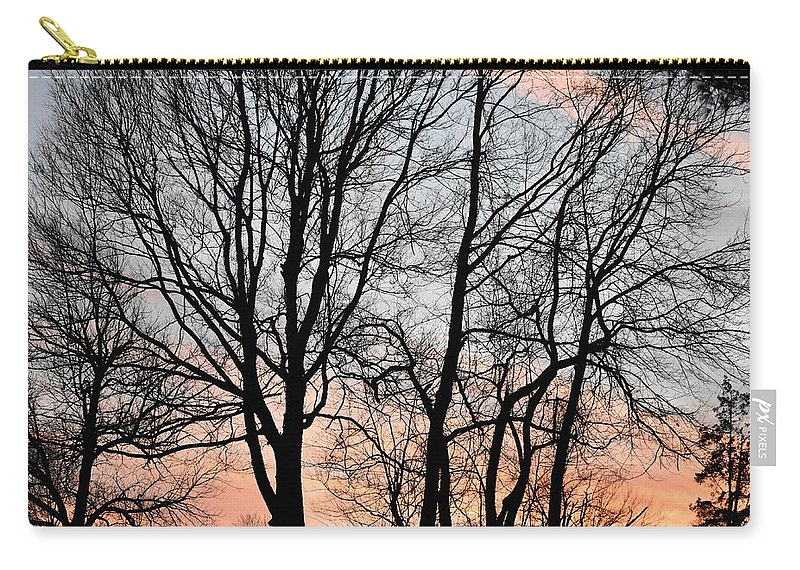 Trees Carry-all Pouch featuring the photograph Pink Sky by Cassidy Marshall