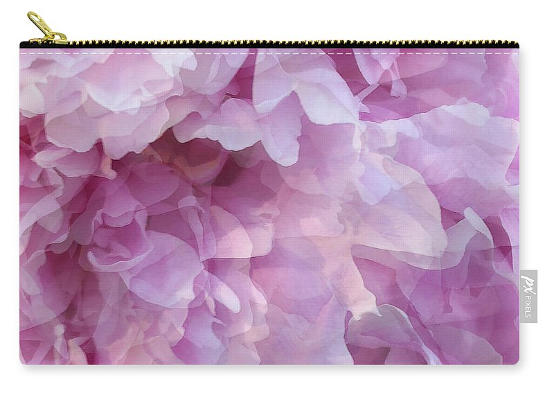 Pink Flower Carry-all Pouch featuring the digital art Pinkity by Cindy Greenstein