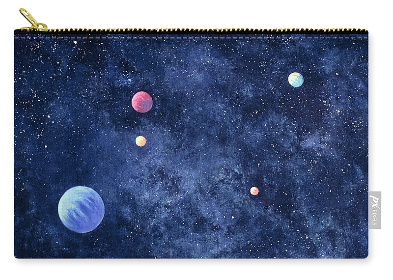 The Media Carry-all Pouch featuring the photograph Planets In Solar System by Huntstock