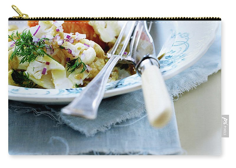 Copenhagen Carry-all Pouch featuring the photograph Plate Of Pasta With Fish by Line Klein